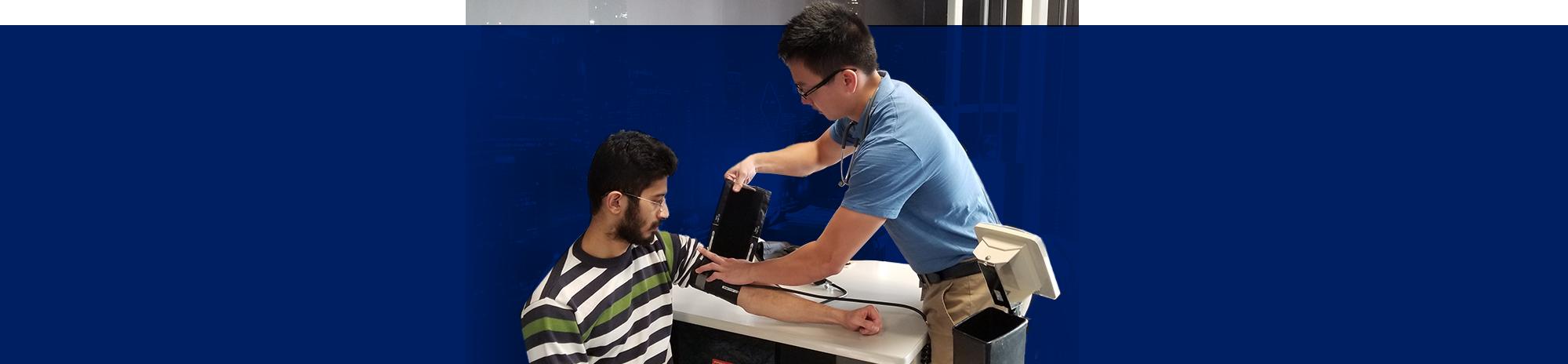 Researchers take blood pressure